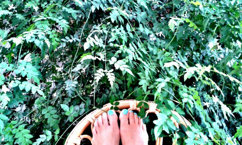 pies con uñas de colores