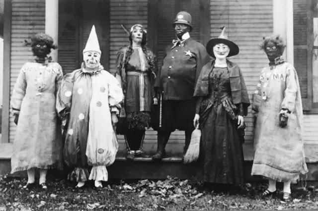 foto de época en halloween