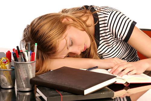 Dormir estudiando