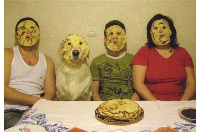 máscara de crepes