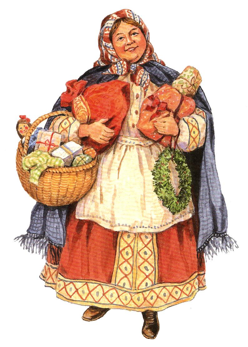 abuela rusa con regalos