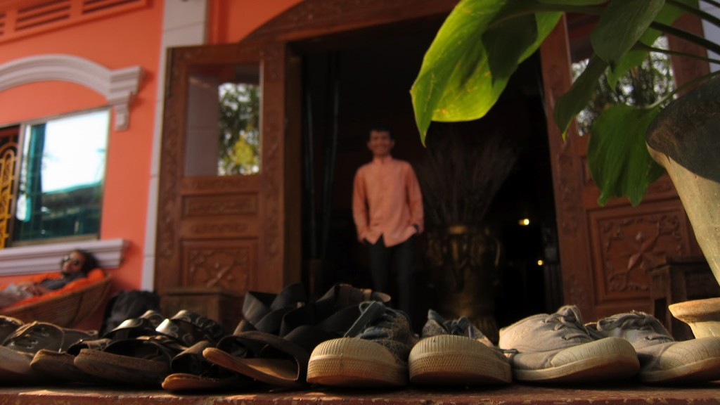 zapatos en el suelo