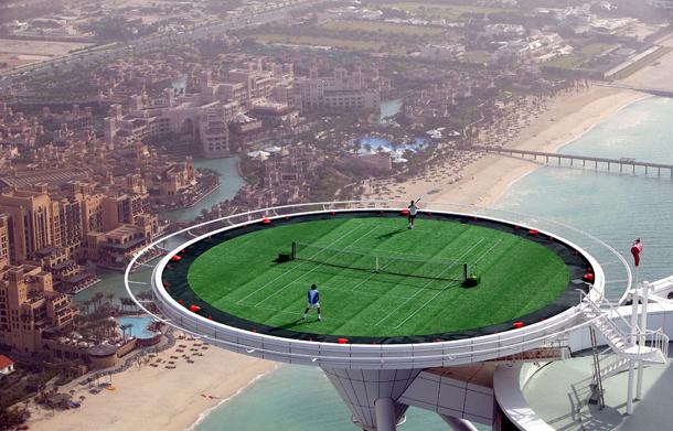 pista de tenis en hotel