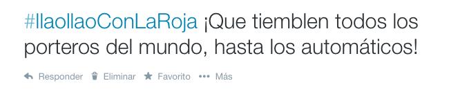 Anima a la Selección con el hashtag #llaollaoConLaRoja