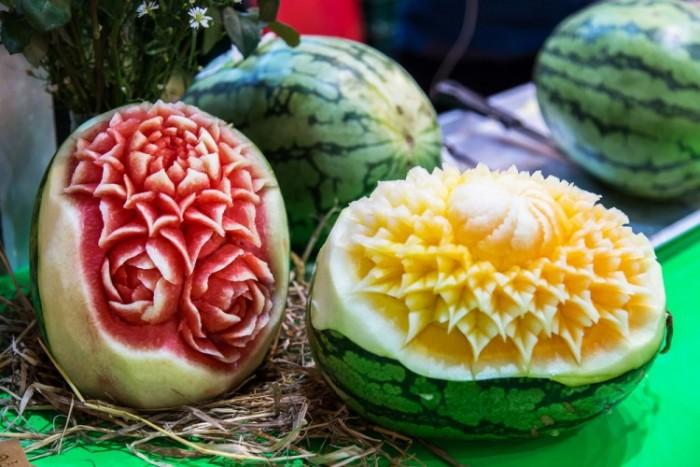 ===El arte comestible=== - Página 10 Escultura-sandia-melon-sapo-e1458665591676